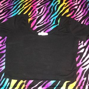 Forever 21 Black Crop Top Medium